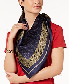 MICHAEL Michael Kors Chain & Dots Silk Square Scarf