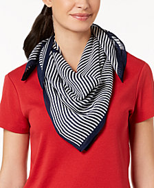 MICHAEL Michael Kors Thin-Striped Square Scarf