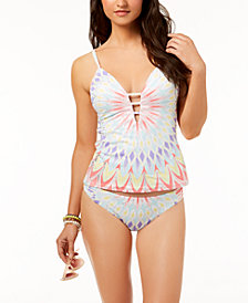 Bar III Starburst Tankini Top & Bottoms, Created for Macy's