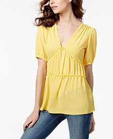 MICHAEL Michael Kors Ruched Top, Created for Macy's