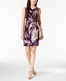 Connected Petite Printed Sheath Dress