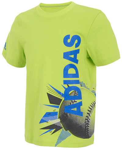 adidas Soccer-Print Cotton T-Shirt, Little Boys