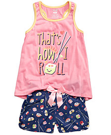 Max & Olivia 2-Pc. Pajama Set, Little & Big Girls