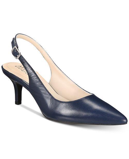 alfani women s step n flex babbsy pointed toe slingback pumps