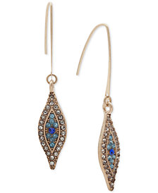 lonna & lilly Gold-Tone Clear & Colored Pavé Evil Eye Drop Earrings