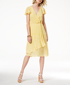 MICHAEL Michael Kors Floral-Print Wrap Dress, Created for Macy's