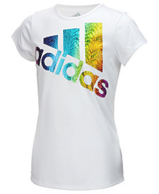 adidas Climalite® Graphic-Print T-Shirt, Little Girls