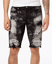 GUESS Men's Slim-Fit Moto Shorts