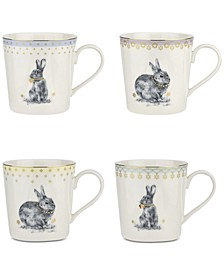 Meadow Lane Mugs, Set of 4