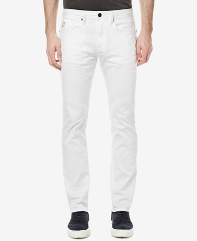 Buffalo David Bitton Men's White Slim-Fit Stretch Jeans