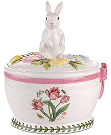 Portmeirion Botanic Garden Terrace Bunny Round Cookie Box