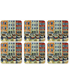 Pimpernel Boat Scene Coasters, Set of 6