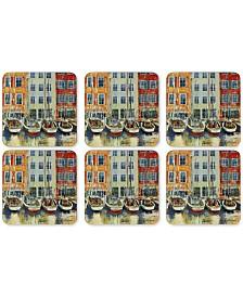Pimpernel Boat Scene Coasters, Set of 6
