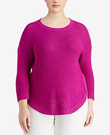 Lauren Ralph Lauren Plus Size 3/4-Sleeve Sweater