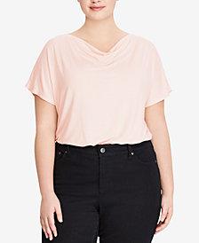 Lauren Ralph Lauren Plus Size Cowl-Neck Top