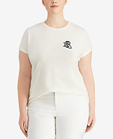 Lauren Ralph Lauren Plus Size Jersey T-Shirt, Created for Macy's