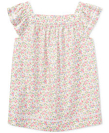 Polo Ralph Lauren Floral Cotton Poplin Top, Big Girls