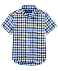 Polo Ralph Lauren Short-Sleeve Oxford Shirt, Little Boys