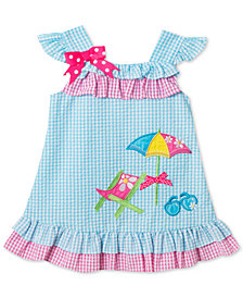 Rare Editions Beach Chair Gingham Seersucker Dress, Little Girls