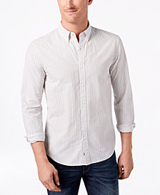 Michael Kors Men's Slim-Fit Striped Seersucker Shirt