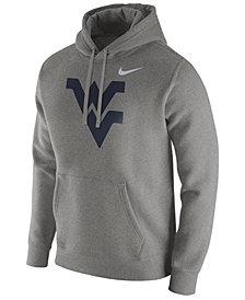 Nike Men's West Virginia Mountaineers Cotton Club Fleece Hooded Sweatshirt