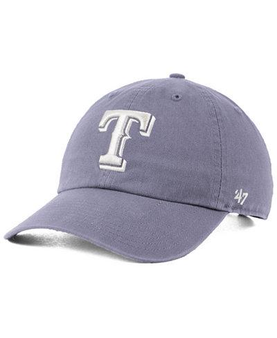 '47 Brand Texas Rangers Dark Gray CLEAN UP Cap