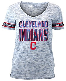 Women's Cleveland Indians Plus Space Dye Sleeve T-Shirt