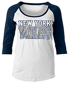 5th & Ocean Women's New York Yankees Plus Raglan T-shirt