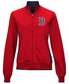 G-III Sports Women's Boston Red Sox Triple Track Jacket