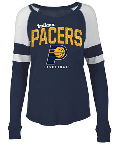 5th & Ocean Women's Indiana Pacers Space Dye Long Sleeve T-Shirt