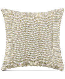 "Waterford Britt Reversible 14"" Square Beaded Decorative Pillow"