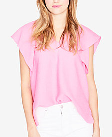 RACHEL Rachel Roy V-Neck Flutter-Sleeve Top, Created for Macy's