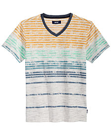Univibe V-Neck Striped T-Shirt, Big Boys