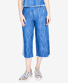 RACHEL Rachel Roy Cotton Cropped Wide-Leg Jeans, Created for Macy's