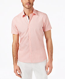 Ryan Seacrest Distinction™ Men's Slim-Fit Geometric-Print Sport Shirt, Created for Macy's