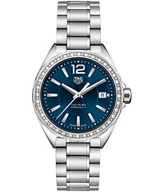 TAG Heuer Women's Swiss Formula 1 Diamond-Accent Stainless Steel Bracelet Watch 35mm