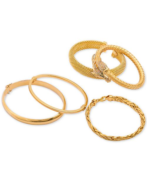 pav bracelets exclusive macy fpx product pave braided a bracelet bangles s bangle anne klein macys tone gold shop style