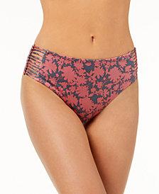 Dolce Vita Macramé High-Waist Bikini Bottoms