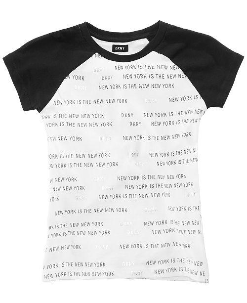 1c7dc3cb8 DKNY Printed Cotton Raglan T-Shirt