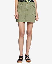 Sanctuary Forward March Cotton Utility Skirt