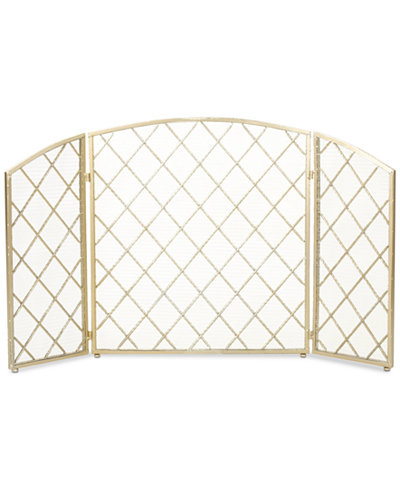 Three Panel 29'' Fireplace Screen, Quick Ship