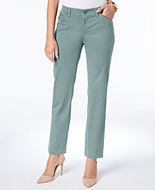 Lee Platinum Petite Straight-Leg Chinos