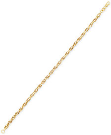 Italian Gold Interlocking Link Bracelet in 14k Gold