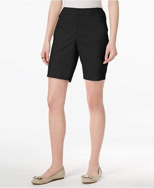 Charter Created Bermuda Twill Petite Deep Macy's Shorts Black for Club Sqr1Sa4wvZ