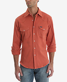 Wrangler Men's Authentic Western Long Sleeve Twill Shirt