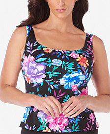 Swim Solutions Mastectomy Gracious Printed Tankini Top