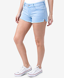 Celebrity Pink Juniors' Colored Cutoff Denim Shorts