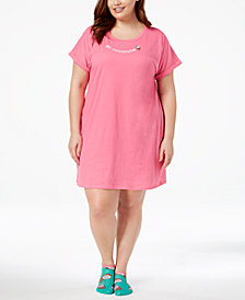 Jenni by Jennifer Moore Plus Size Graphic-Print Sleepshirt With Socks, Created for Macy's