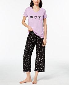 HUE® Printed Capri Pajama Set