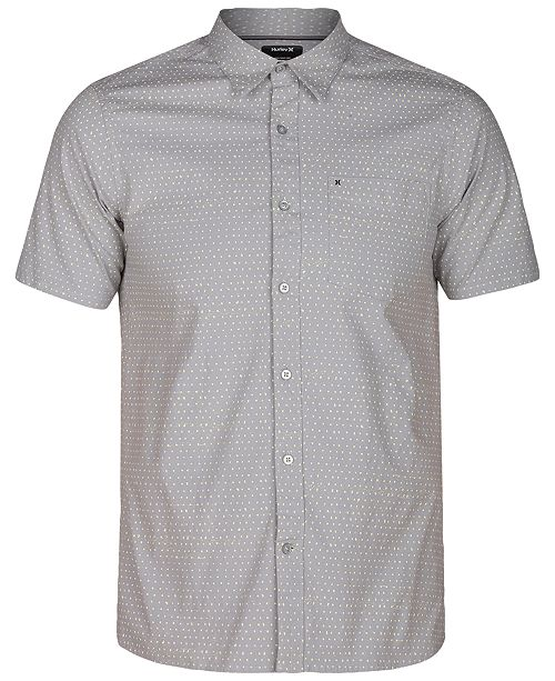 986c934341 Hurley Men s Dot-Print Stretch Shirt - Casual Button-Down Shirts ...